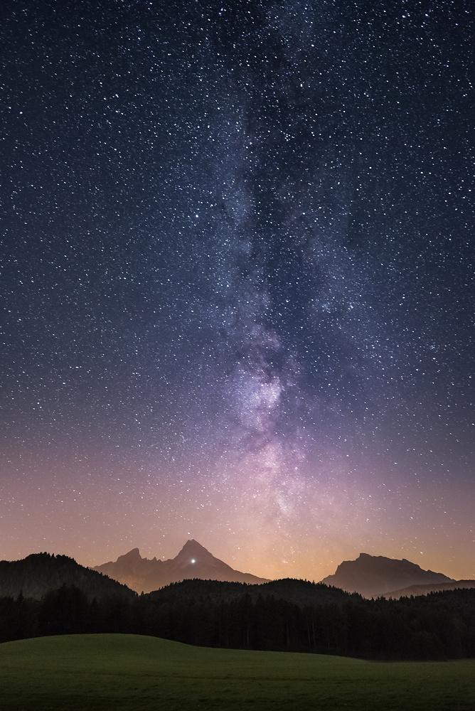 Milchstraße über dem Watzmann 20160908-8825